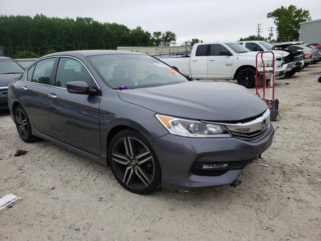 Salvage cars for sale from Copart Hampton, VA: 2017 Honda Accord Sport