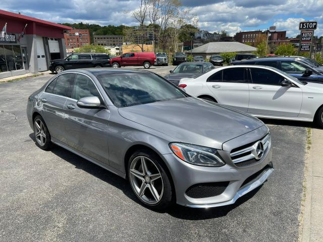 Salvage cars for sale from Copart North Billerica, MA: 2015 Mercedes-Benz C 400 4matic