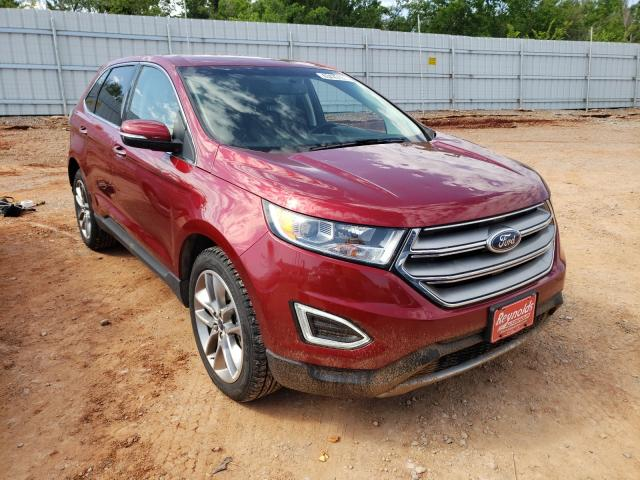 Salvage cars for sale from Copart Oklahoma City, OK: 2018 Ford Edge Titanium