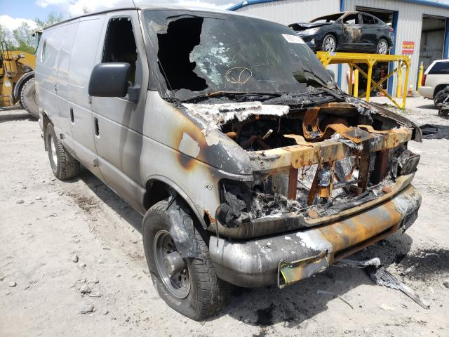 Salvage cars for sale from Copart Duryea, PA: 2000 Ford Econoline