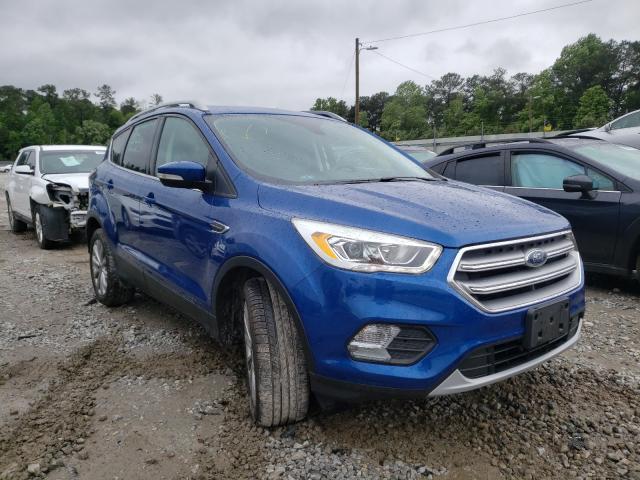 Salvage cars for sale from Copart Ellenwood, GA: 2017 Ford Escape Titanium