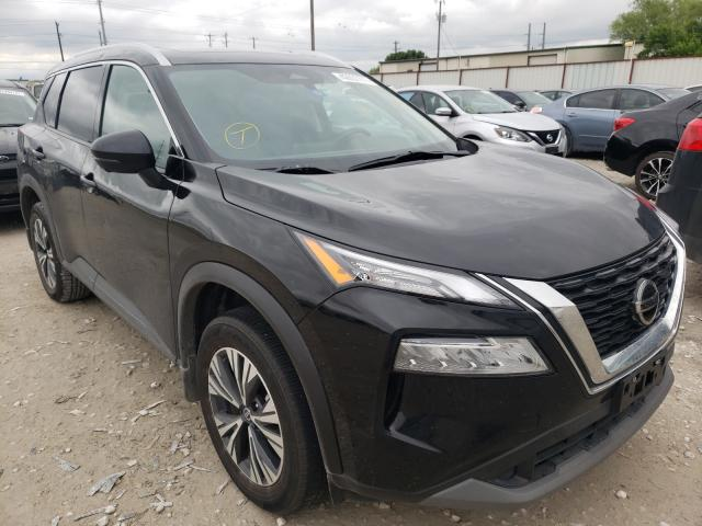 Salvage cars for sale from Copart Haslet, TX: 2021 Nissan Rogue SV