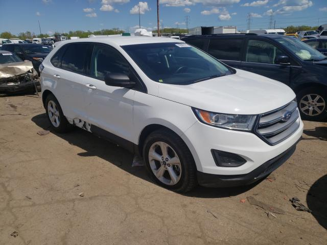Salvage cars for sale from Copart Woodhaven, MI: 2016 Ford Edge SE