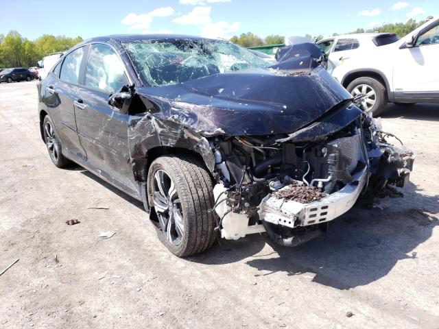 Salvage cars for sale from Copart Ellwood City, PA: 2017 Honda Civic Touring