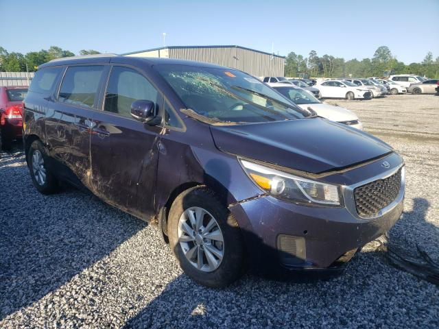 Salvage cars for sale from Copart Spartanburg, SC: 2018 KIA Sedona LX
