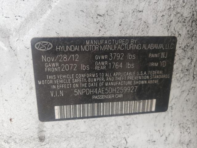 2013 HYUNDAI ELANTRA 5NPDH4AE5DH259927