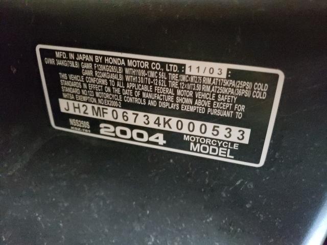 2004 HONDA NSS250 S JH2MF06734K000533