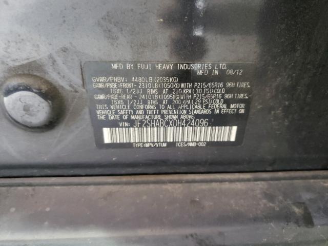 2013 SUBARU FORESTER 2 JF2SHABCXDH424096