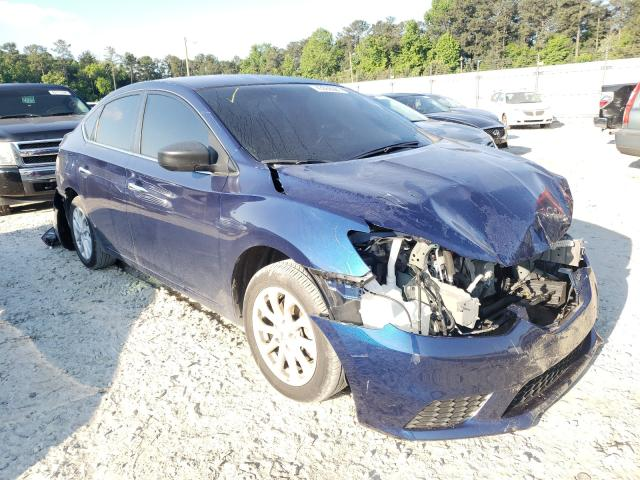 Salvage cars for sale from Copart Ellenwood, GA: 2019 Nissan Sentra S