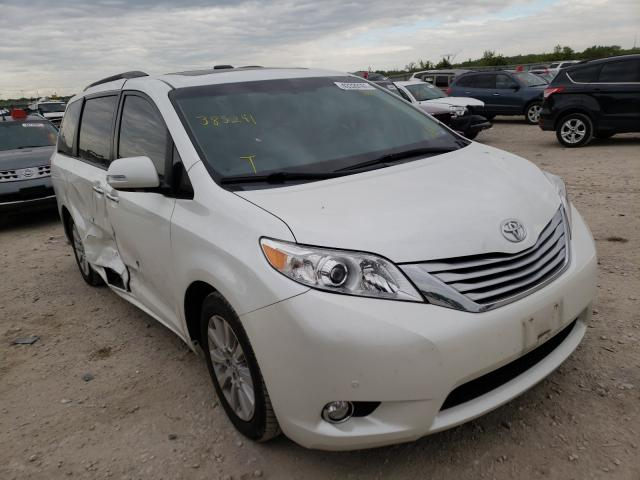 Salvage cars for sale from Copart Kansas City, KS: 2013 Toyota Sienna XLE