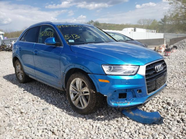 Salvage cars for sale from Copart West Warren, MA: 2016 Audi Q3 Premium