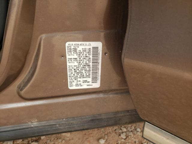 2011 NISSAN MURANO S JN8AZ1MU1BW052755