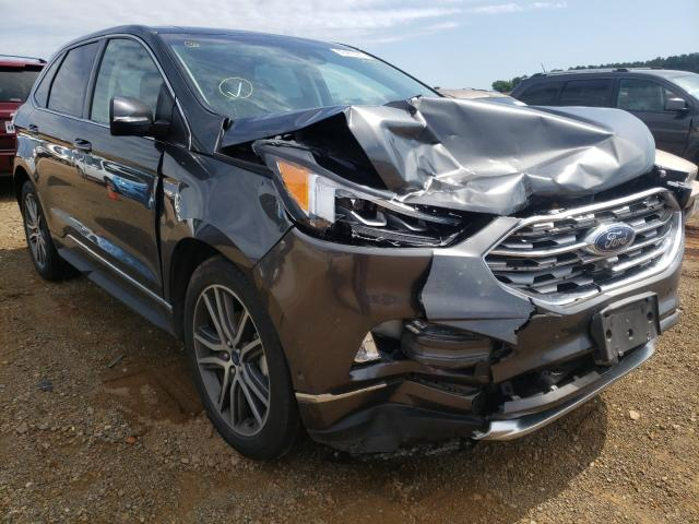 Salvage cars for sale from Copart Longview, TX: 2019 Ford Edge Titanium