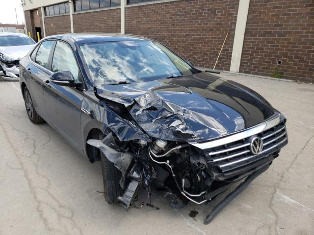 Salvage cars for sale from Copart Wheeling, IL: 2019 Volkswagen Jetta SEL