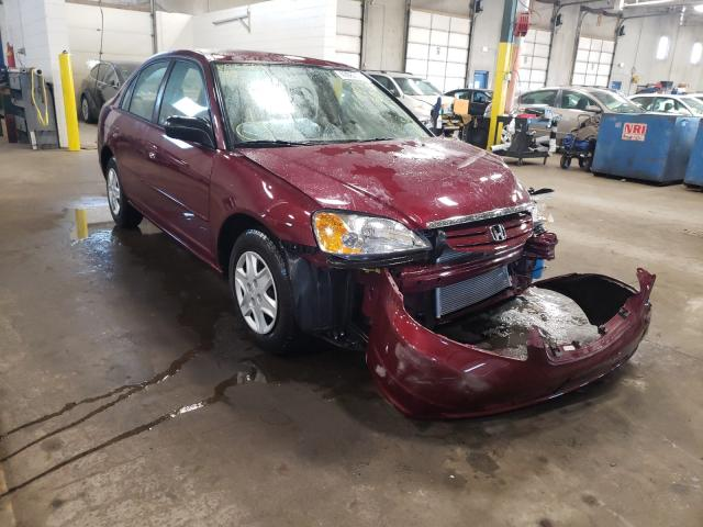 Salvage cars for sale from Copart Blaine, MN: 2003 Honda Civic LX