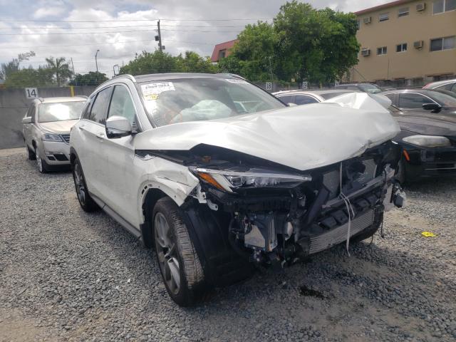 Salvage cars for sale from Copart Opa Locka, FL: 2021 Infiniti QX50 Senso