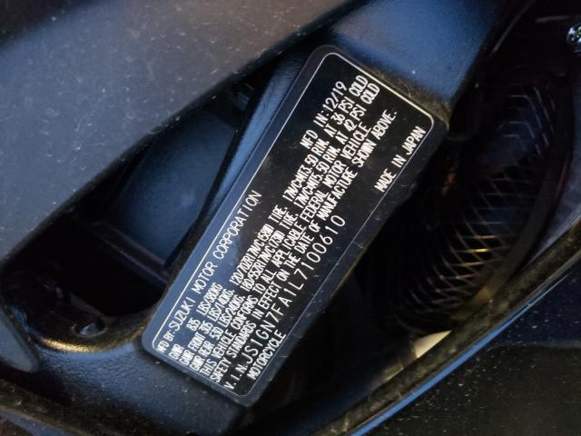 2020 SUZUKI GSX-R600 JS1GN7FA1L7100610