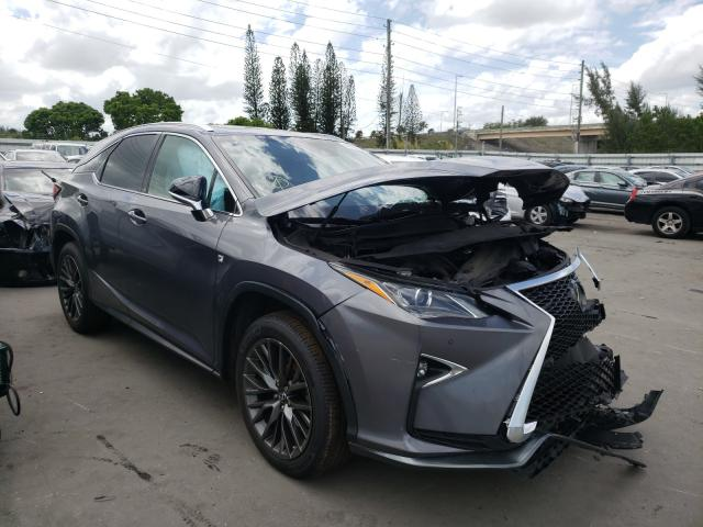 Salvage cars for sale from Copart Miami, FL: 2017 Lexus RX 350 Base