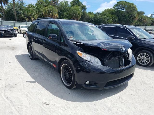 Vehiculos salvage en venta de Copart Fort Pierce, FL: 2015 Toyota Sienna XLE
