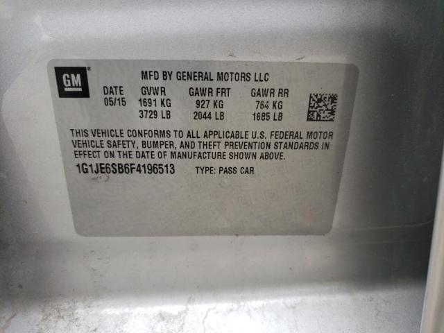 2015 CHEVROLET SONIC LTZ 1G1JE6SB6F4196513