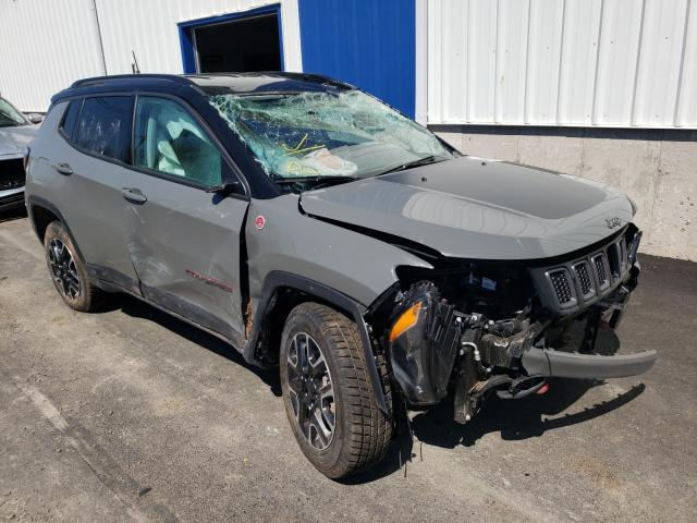 Salvage cars for sale from Copart Atlantic Canada Auction, NB: 2021 Jeep Compass TR
