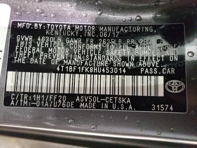 2017 TOYOTA CAMRY LE 4T1BF1FK8HU453014