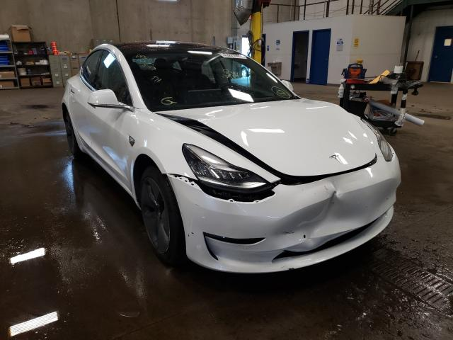 Salvage cars for sale from Copart Blaine, MN: 2018 Tesla Model 3