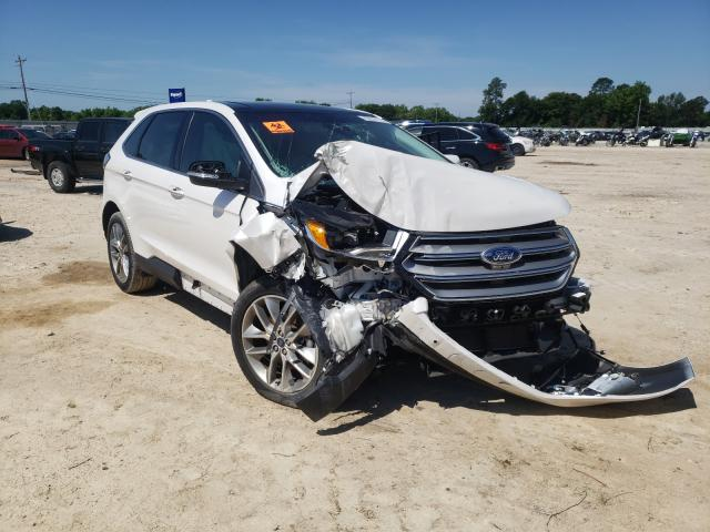Salvage cars for sale from Copart Newton, AL: 2017 Ford Edge Titanium
