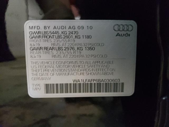 2011 AUDI Q5 PREMIUM WA1LFAFP6BA030603