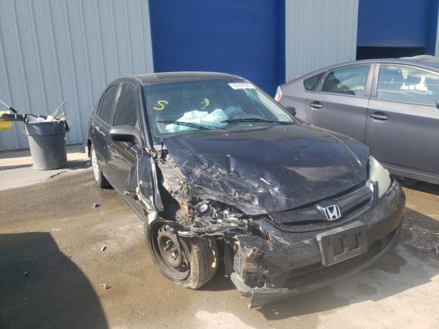 Salvage cars for sale from Copart Glassboro, NJ: 2005 Honda Civic LX