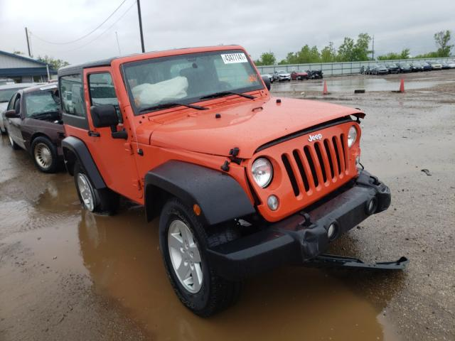 Salvage cars for sale from Copart Pekin, IL: 2015 Jeep Wrangler S