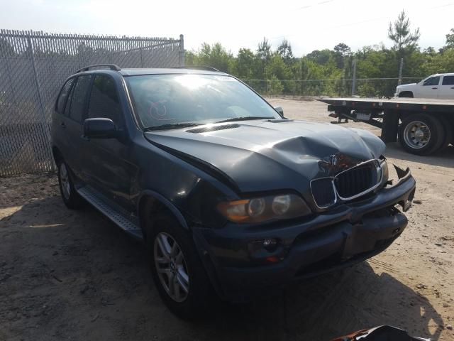 Salvage cars for sale at Gaston, SC auction: 2005 BMW X5 3.0I