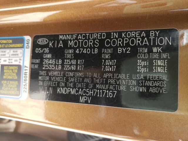 2017 KIA SPORTAGE L KNDPMCAC5H7117167