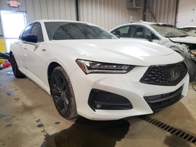 Salvage cars for sale from Copart West Mifflin, PA: 2021 Acura TLX Tech A