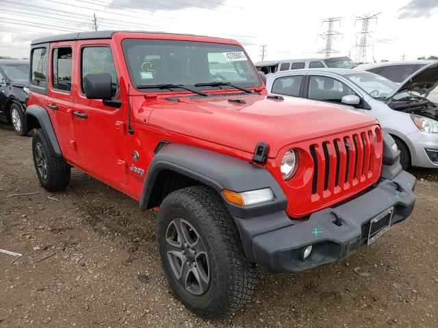 Salvage cars for sale from Copart Elgin, IL: 2018 Jeep Wrangler U