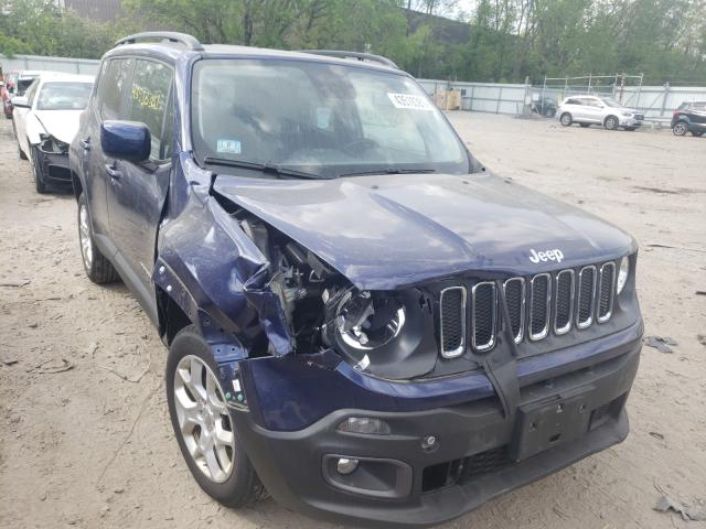 Salvage cars for sale from Copart North Billerica, MA: 2017 Jeep Renegade L