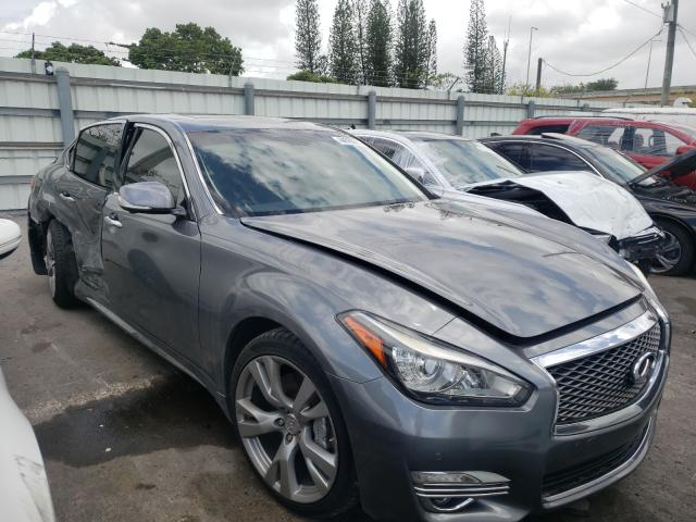 Salvage cars for sale from Copart Miami, FL: 2016 Infiniti Q70 3.7