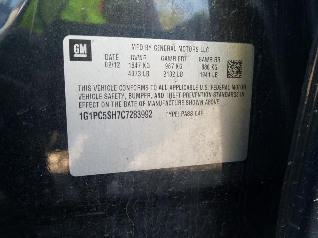 2012 CHEVROLET CRUZE LS 1G1PC5SH7C7283992