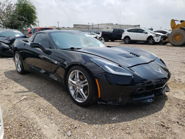 Salvage cars for sale from Copart Mercedes, TX: 2017 Chevrolet Corvette S