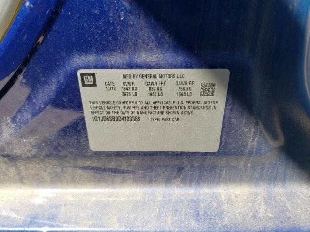 2013 CHEVROLET SONIC LT 1G1JD6SB0D4133388
