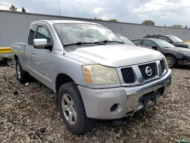 Salvage cars for sale from Copart Cudahy, WI: 2005 Nissan Titan XE