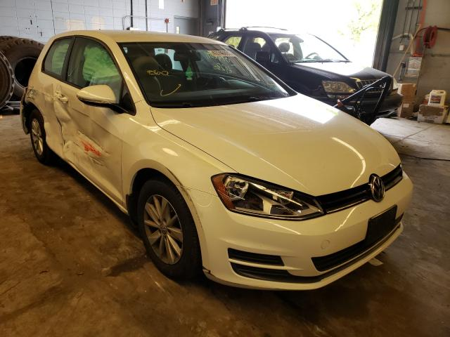 Salvage cars for sale from Copart Wheeling, IL: 2016 Volkswagen Golf Base