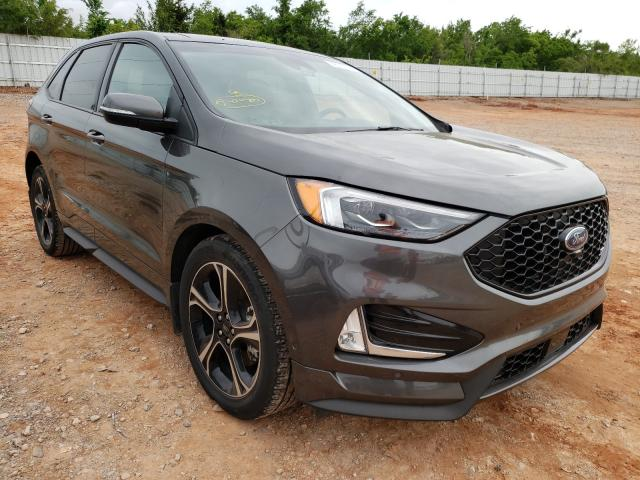 Salvage cars for sale from Copart Oklahoma City, OK: 2019 Ford Edge ST