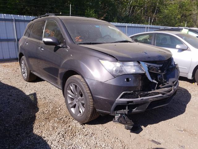 Salvage cars for sale from Copart Lyman, ME: 2010 Acura MDX Advance