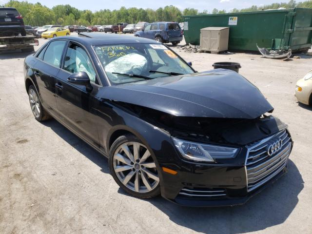 Salvage cars for sale from Copart Ellwood City, PA: 2017 Audi A4 Premium
