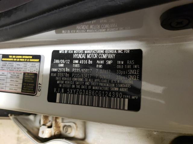 2012 HYUNDAI SANTA FE G 5XYZG3AB6CG124390