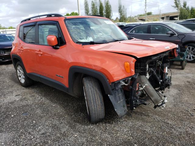 Salvage cars for sale from Copart Miami, FL: 2016 Jeep Renegade L