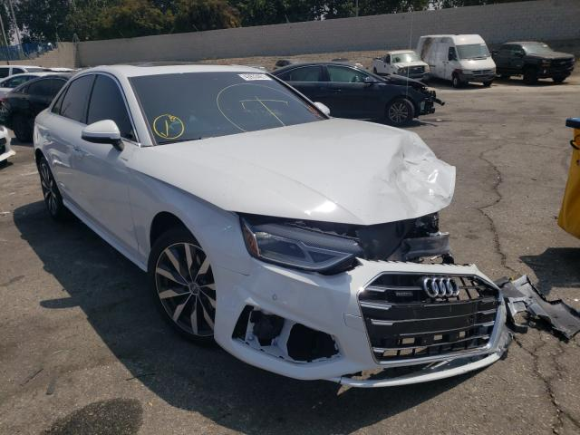 Salvage cars for sale from Copart Colton, CA: 2021 Audi A4 Premium