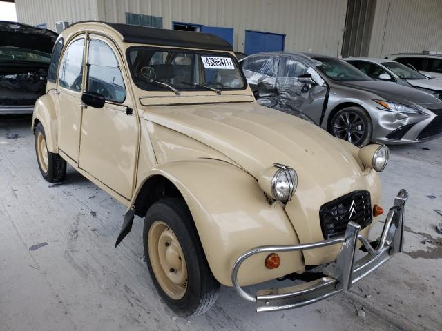 Salvage cars for sale from Copart Homestead, FL: 1971 Citroen 3CV