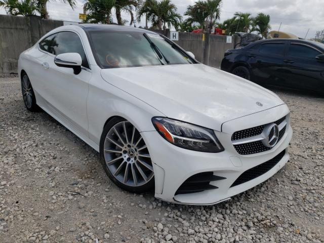 Salvage cars for sale from Copart Opa Locka, FL: 2019 Mercedes-Benz C300